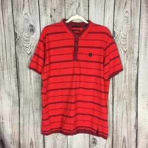 🌕4/$15🌕 Sean John Red Striped Polo Shirt XXL
